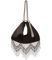 jimmy choo beaded fringe clutch bag with detachable chain shoulder