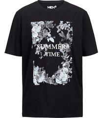 t-shirt men plus zwart::wit