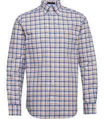 d1. oxford micro madras reg bd overhemd casual blauw gant