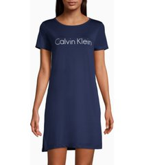calvin klein logo print sleepshirt nightgown