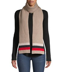 carolyn rowan women's striped cashmere scarf - nile brown