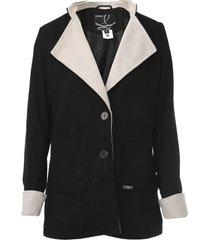 casaco queens paris recortes preto