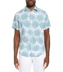 men's boss rash regular fit linen blend shirt