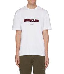 logo velvet flock print t-shirt