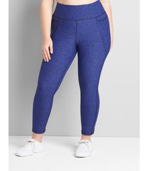 lane bryant women's livi capri legging with wicking - crisscross hem 34/36 cozy texture