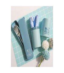 conjunto talher e porta escova de dentes linha concept jacki design