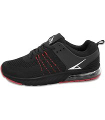 ***zapato negro rojo athletic air