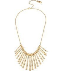 jessica simpson women's bamboo textured stick frontal necklace