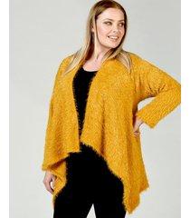 saco amarillo lecol talles reales maria plus size