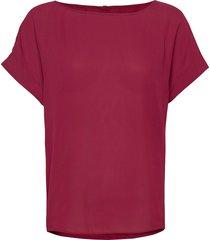 blouse blouses short-sleeved röd ilse jacobsen