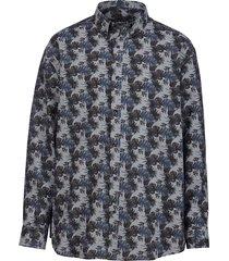 overhemd men plus grijs::marine
