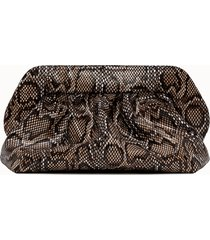 themoire' clutch stampa pitone