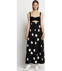 proenza schouler broken dot bustier dress 22090 black/ecru dot 4