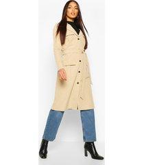 utility pocket tie waist trench coat, stone