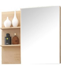 conjunto p/ banheiro c/ espelheira e gabinete c/ cuba jazz 80cm mb bosi bege - bege - dafiti