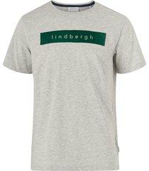 t-shirt logo flock print tee s/s