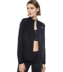 chaqueta reebok re wind jacket negro - calce holgado
