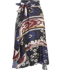 forte forte encens print satin gipsy skirt