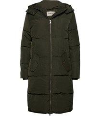 phoebe jacket gevoerde lange jas groen modström