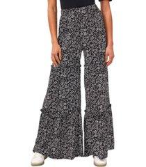 cece floral-print ruffled pants