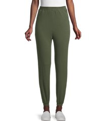 love ady women's french terry joggers - hunter green - size s