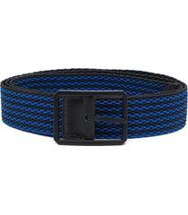 bottega veneta woven elasticated belt - blue