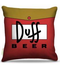 almofada nerderia bebidas duff beer 45x45cm - multicolorido - dafiti