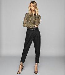 reiss nicole - spot printed blouse in khaki, womens, size 12