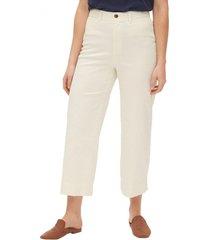 pantalon wide leg chino blanco gap