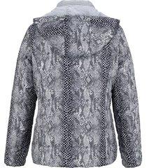 vändbar jacka med avtagbar kapuschong dress in silverfärgad::antracitgrå