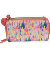 buxton women's mini abstract rfid ultimate double zip organizer wallet