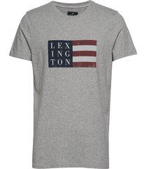 simon tee t-shirts short-sleeved grå lexington clothing