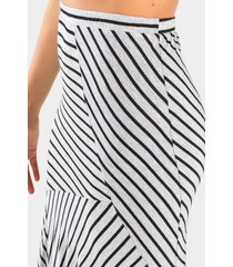 tyrah asymmetrical skirt - heather gray