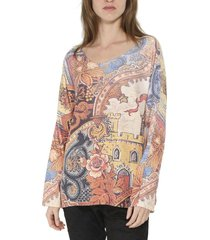 sweater art italy multicolor zagora
