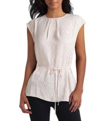 women's extended shoulder tie blouse