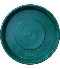 prato em plástico para vaso 12cm verde