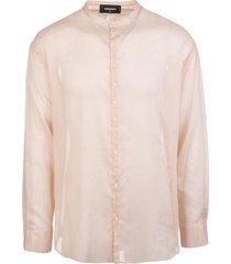 pale pink man shirt with korean collar