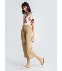 blusa corta miniprint floral
