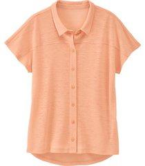 linnen-jersey blouse, abrikoos 36