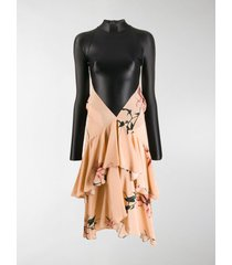 marine serre ruffled skirt hybrid dress