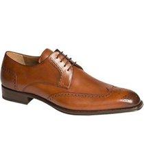 handmade mens wingtip derby formal leather shoes, men brown dress leather shoes