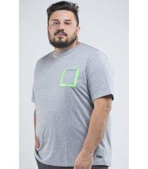 camiseta svk plus size original brand - cinza - cinza - masculino - dafiti
