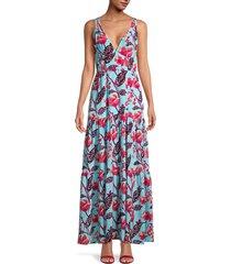 a.l.c. women's rae floral a-line dress - size 2