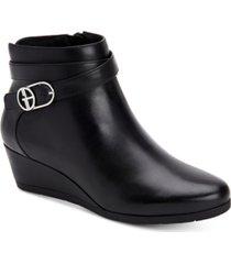 giani bernini cherub wedge memory foam ankle booties, created for macy's women's shoes