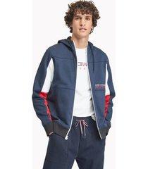 tommy hilfiger men's essential colorblock hoodie navy blazer - xs