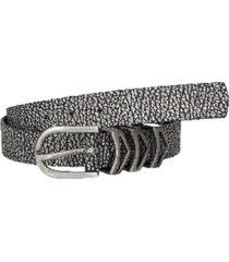 cinturón cuero diferentes texturas grafito zappa