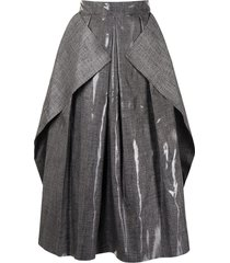 maticevski fondness pleated crepe skirt - black