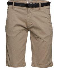 classic chino shorts w. belt shorts chinos shorts beige lindbergh