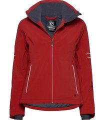 the brilliant jacket w outerwear sport jackets röd salomon