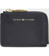 tommy hilfiger women's leather zip card holder sky captain -